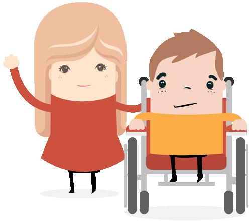 meisje-broerjte-rolstoel
